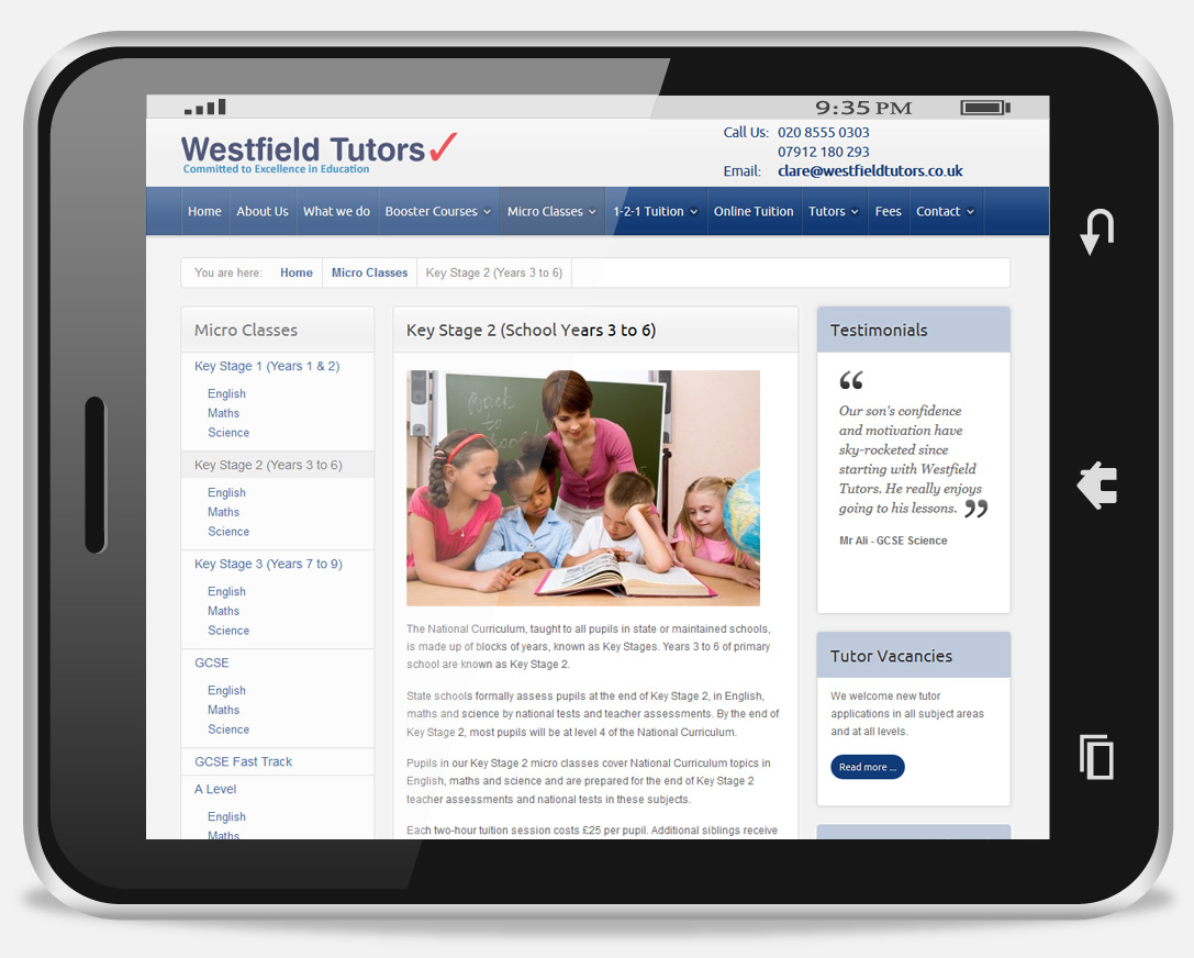 web design and seo services westfield in
