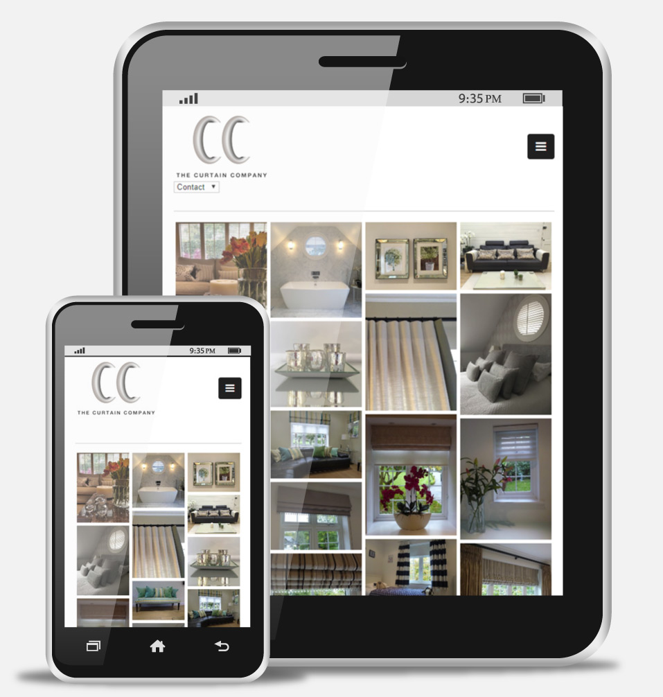 The Curtain Company Surrey Mobile Website Design
