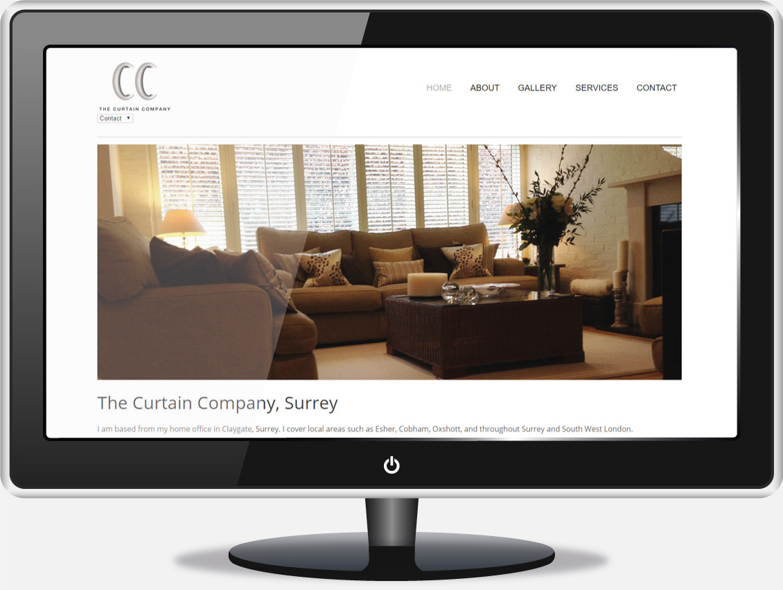 The Curtain Company Surrey Website Design