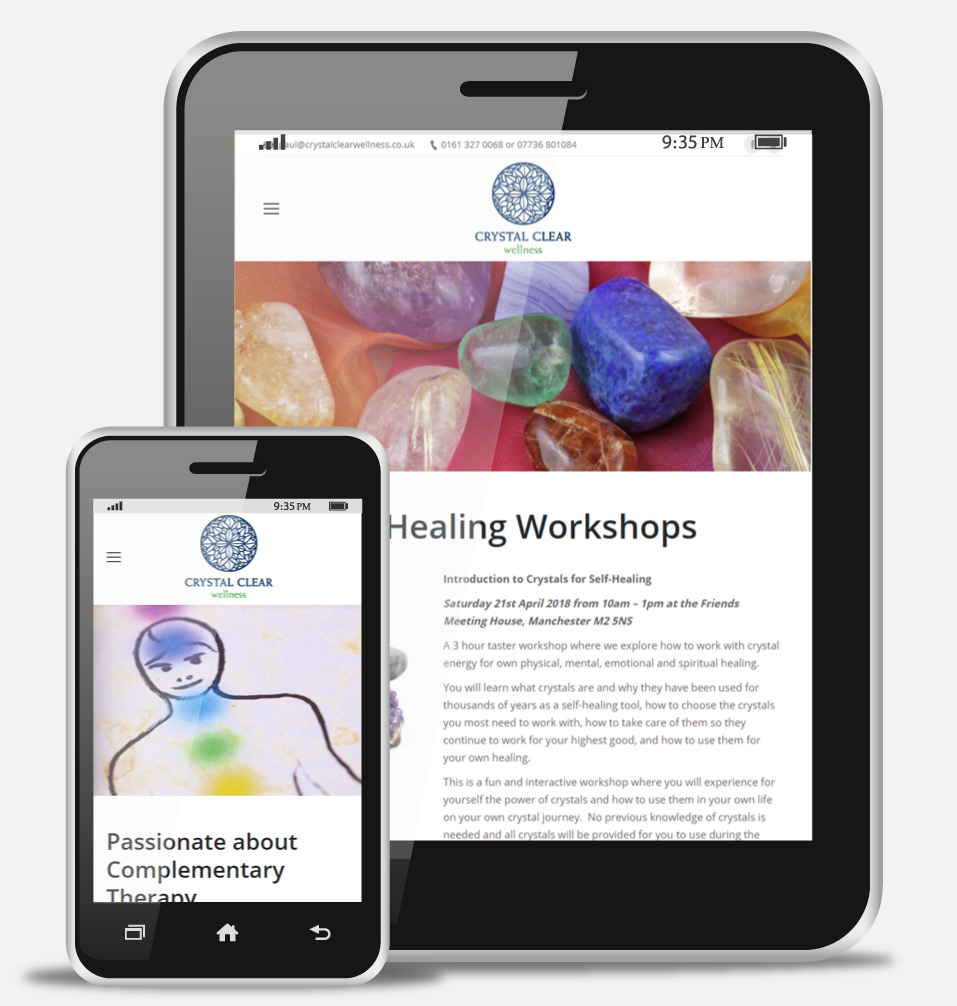 Holistic Therapy Mobile Website Design