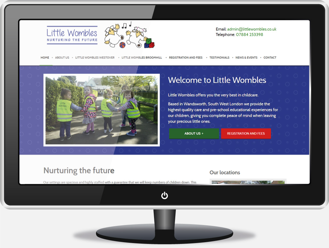 Children's Nursery Website Design