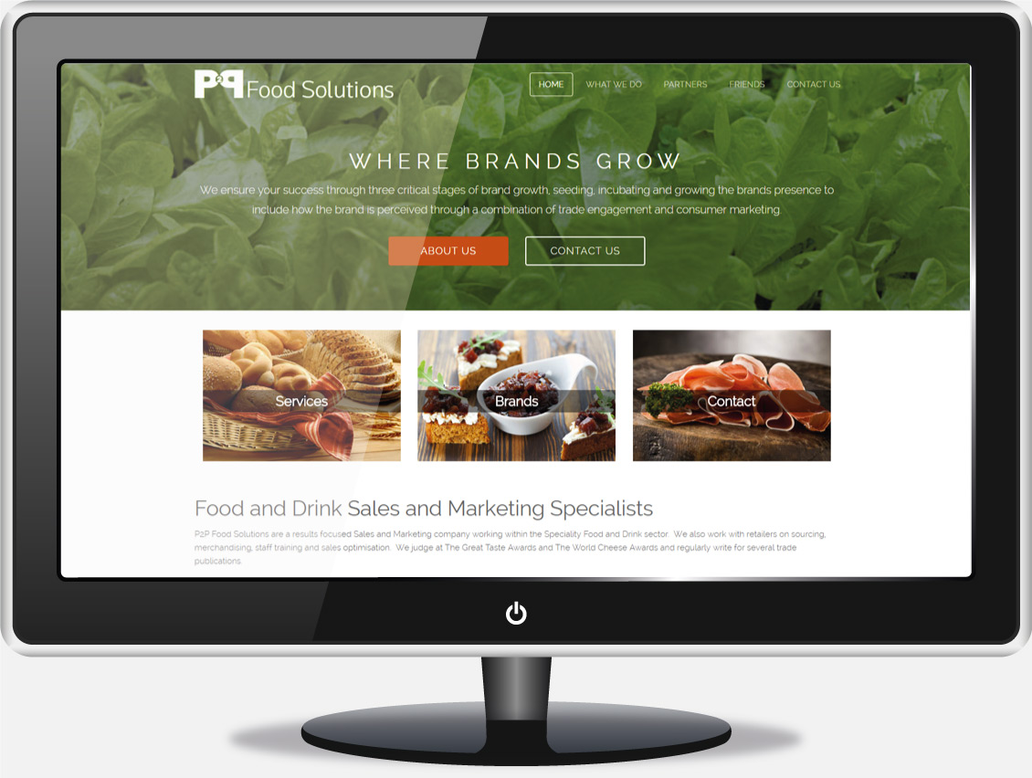 Food and Drink Marketing Website Design - P2P Food Solutions