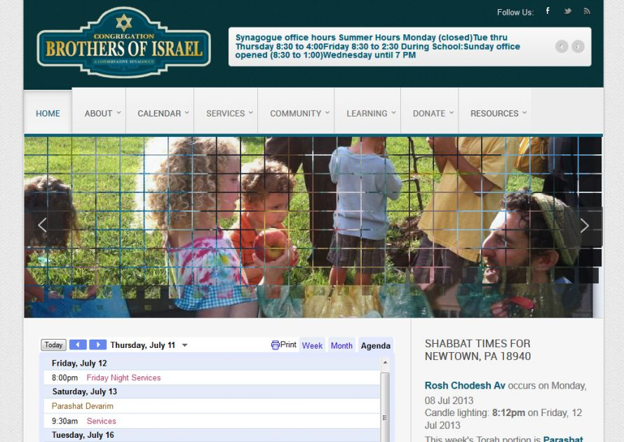 Church Community Website Design - Congregation Brothers of Israel